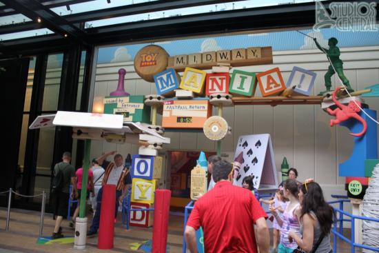Entrance to Toy Story Midway Mania