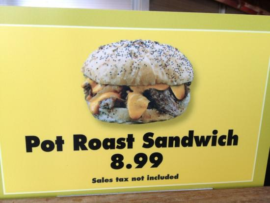 New pot roast sandwich will cost $8.99