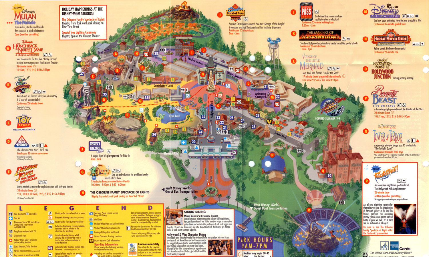 1998 Holidays Map Inside