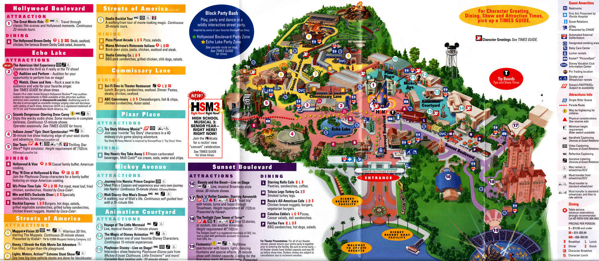 Current Hollywood Studios Map