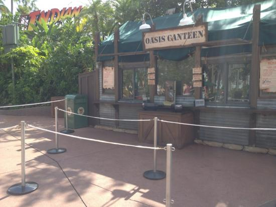 Long queue set up for Oasis Canteen