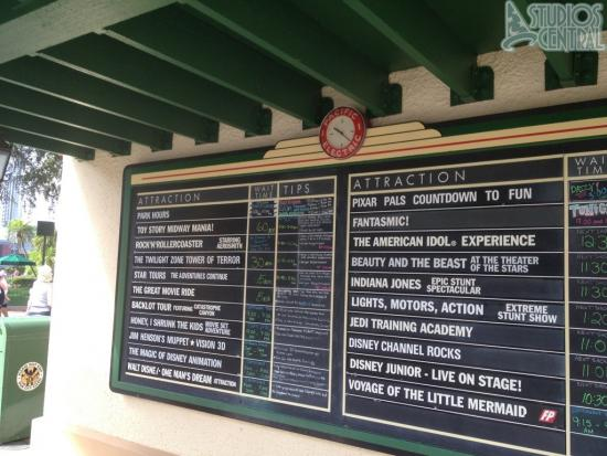 Wait times around 10:30am