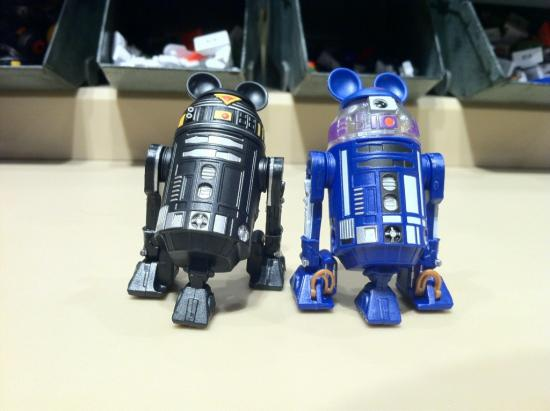 Two example droids that were created