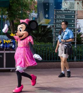 Minnie meeting guests