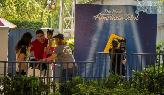 Family auditioning for American Idol Experience