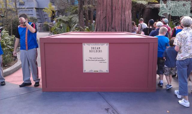 Box in front of Star Tours