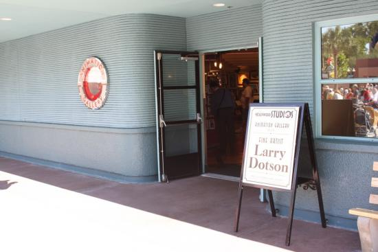 Artist Larry Dotson was signing his work inside Animation Gallery shop