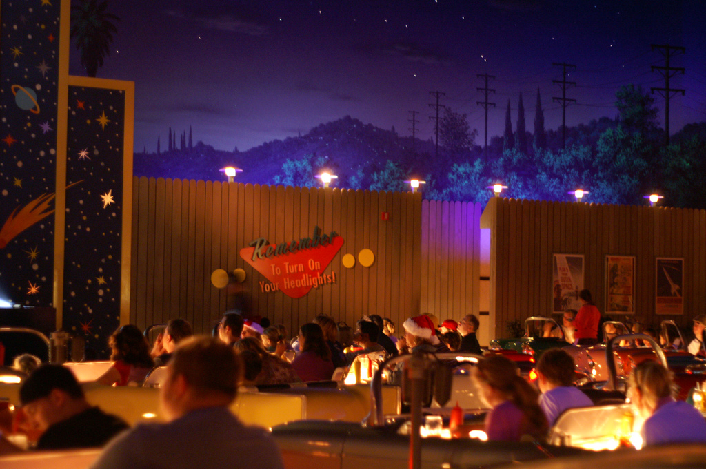 Inside the Sci-Fi Dine-In Theater