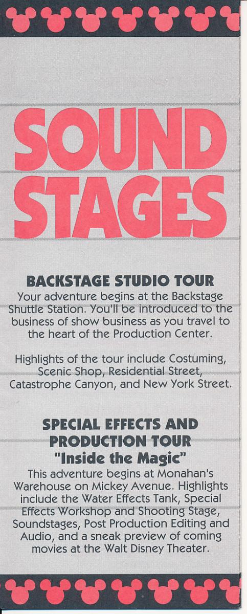 Disney Mgm Studios Times Guide From 1992 Studioscentral Com